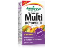 Jamieson 100% Complete Chewable Multivitamin for Adults Citrus Twist Multi, 60 chewable tablets