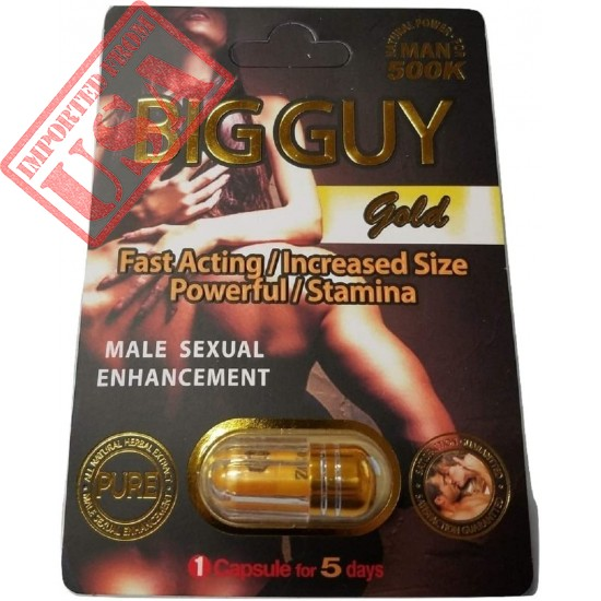 Big Guy Gold 500K All Natural Male Enhancement (3 Pack)