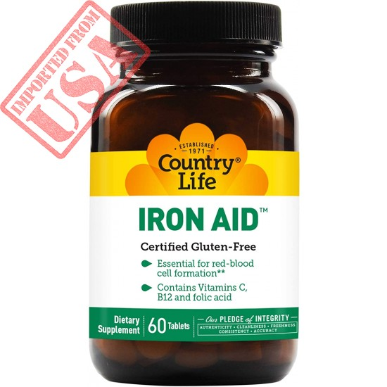 Country Life Iron Aid, 60-Count