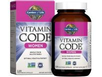 Garden of Life Multivitamin for Women, Vitamin Code Women's Multi - 120 Capsules, Whole Food Womens Multi, Vitamins, Iron, Folate not Folic Acid & Probiotics for Womens Energy, Vegetarian Supplements