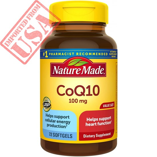 Nature Made CoQ10 100 mg Softgels, 72 Count Value Size for Heart Health