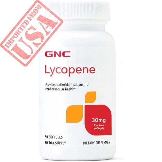 GNC Lycopene 30mg | Provides Antioxidant Support for Cardiovascular Health | 60 Softgels
