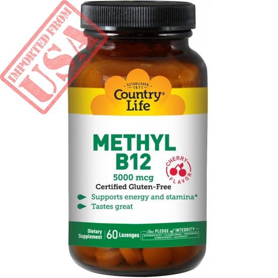 Country Life Methyl B-12 Capsules, 5000 Mcg, 60 Count