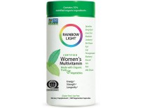 Rainbow Light Women's Multivitamin, Organic Fruits & Vegetables, Gluten-Free, Soy-Free, 120 Vegetarian Capsules (Package May Vary)