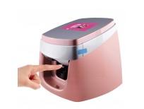 TUOSHI NP10 3d Intelligent Nail Printer Machine - Professional Digital Nail Art Printer - Support WiFi DIY USB (Pink)