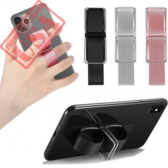 Phone Grip, Senose Phone Holder for Hand Phone Finger Stand Gripper for Back of Phone, Phone Strap Loop Compatible with iPhone Samsung Galaxy Any Smartphone,3 PCS