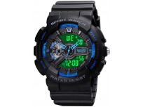 Mens Digital Sports Watch Large Face Sports Outdoor Waterproof Military Chronograph Wrist Watches for Men with Date Multifunction Tactics LED Army Stopwatch
