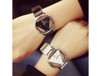 UCHOME Fashion Simple Triangle Hollow Couple Transparent Student Watch