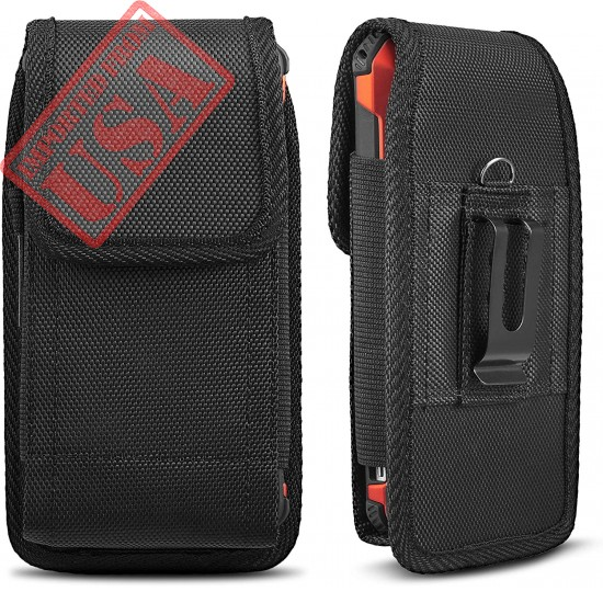 Universal Case for iPhone 8 7 Plus Pouch Case, iNNEXT Vertical Holster Belt Clip Carrying Case Pouch for iPhone X iPhone XS iPhone XR iPhone 6 Plus/iPhone 6S Plus/iPhone 7 Plus 5.5 inch (Black)