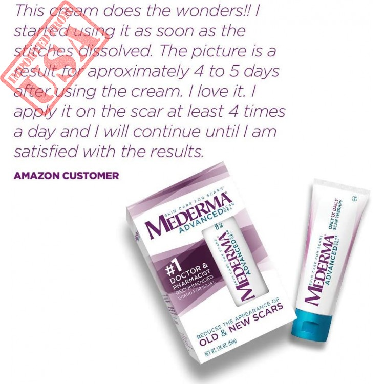 Mederma Advanced Scar Gel Reduces The Appearance Of Old New