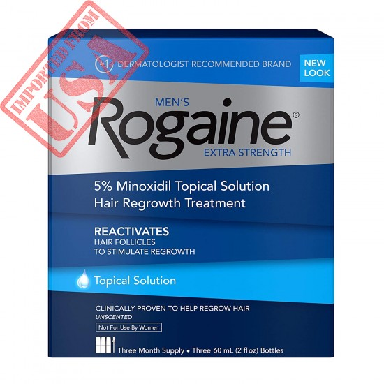 Buy Men's Rogaine Extra Strength 5% Minoxidil Topical Solution for Hair Loss and Hair Regrowth Online in Pakistan