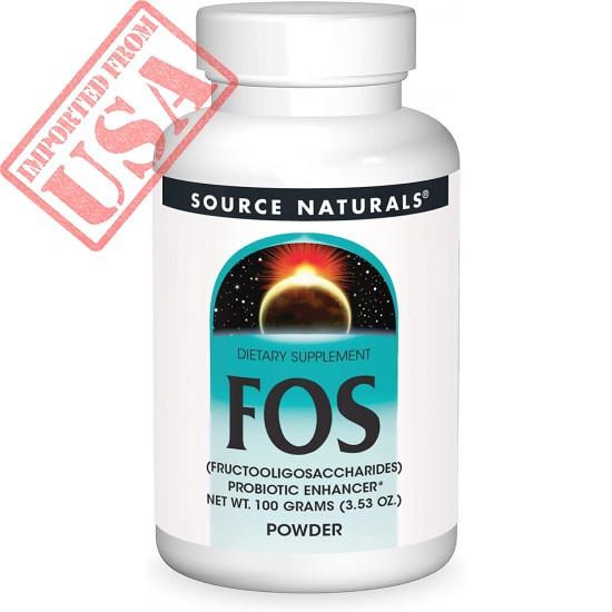 Source Naturals FOS POWDER Dietary Supplement, Fructooligosaccharides Probiotic Enhancer - 100 Grams