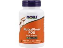 NOW Supplements, NutraFlora FOS (Fructooligosaccharides) Pure Powder, Prebiotic Fiber, 4-Ounce