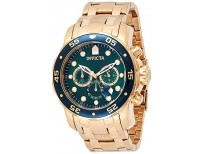 Original Invicta Men's 0075 Pro Diver Chronograph 18k Gold-Plated Watch Sale in Pakistan