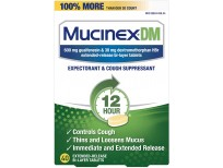 Mucinex Cough Suppressant and Expectorant, DM 12 Hr Relief Tablets, 600 mg, Multicolor