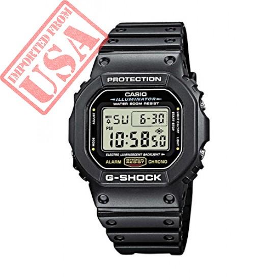 Original Casio Men's G-shock DW5600E-1V Shock Resistant Black Resin Sport Watch online in Pakistan