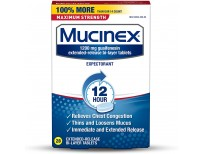 Mucinex Maximum Strength 12 Hour Chest Congestion Expectorant Relief Tablets, Buy in Pakistan