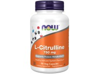 NOW Supplement L-Citrulline 750 mg, Supports Protein Metabolism , Amino Acid, 90 Veg Capsules