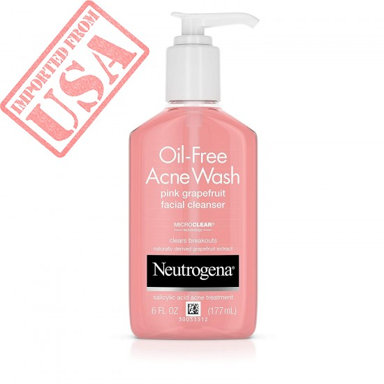 Neutrogena Oil-Free Acne Wash Facial Cleanser, Pink Grapefruit Online in Pakistan