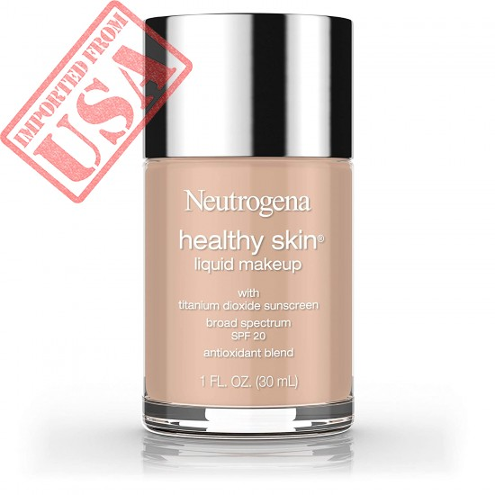 Neutrogena Healthy Skin Liquid Makeup Foundation, Broad Spectrum SPF 20 Sunscreen, Lightweight & Flawless Coverage Foundation with Antioxidant Vitamin E & Feverfew