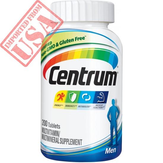 Centrum Men Multivitamin / Multimineral Supplement Tablet, Vitamin D3 Buy in Pakistan