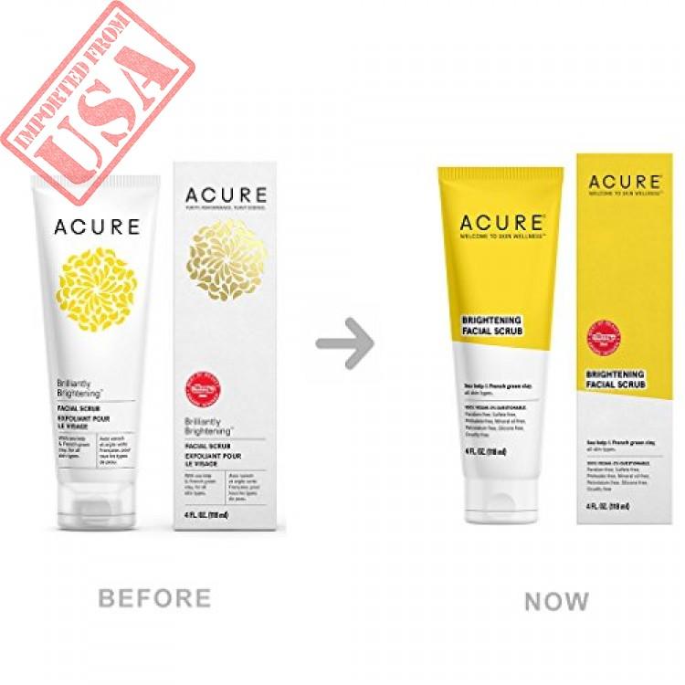 ACURE Brightening Facial Scrub, All Skin Types, 4 Fluid