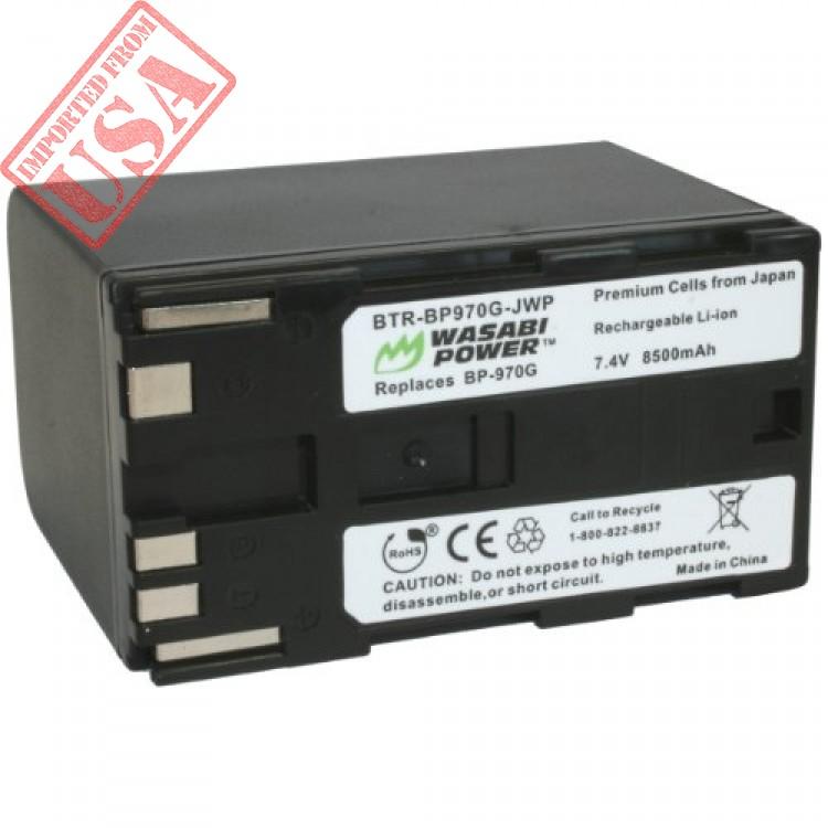 original wasabi power bp-970g, bp-975 battery (8500mah) for