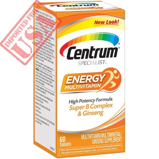 Centrum Specialist Energy Complete Multivitamin Supplement Buy Online is Pakistan