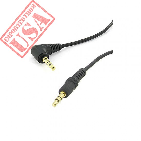 6 inch 3.5mm Male Right Angle to 3.5mm Male Gold Stereo Audio Cable imported from USA