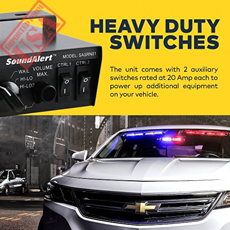 emergency horn sound system for police cars and fire trucks