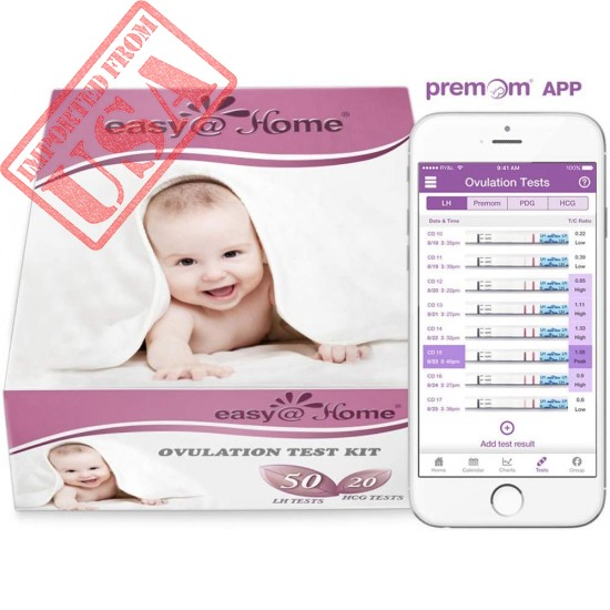 50 Ovulation Test Strips and 20 Pregnancy Test Strips Combo Kit by Easy@Home Online in Pakistan