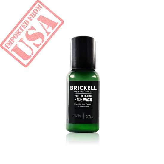 Brickell Men's Purifying Charcoal Face Wash for Men, Natural and Organic Daily Facial Cleanser Buy in Pakistan