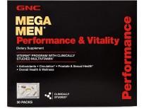 GNC Mega Men Performance and Vitality Daily Multivitamin Vitapak, 30 Count, Prostate & Sexual Health