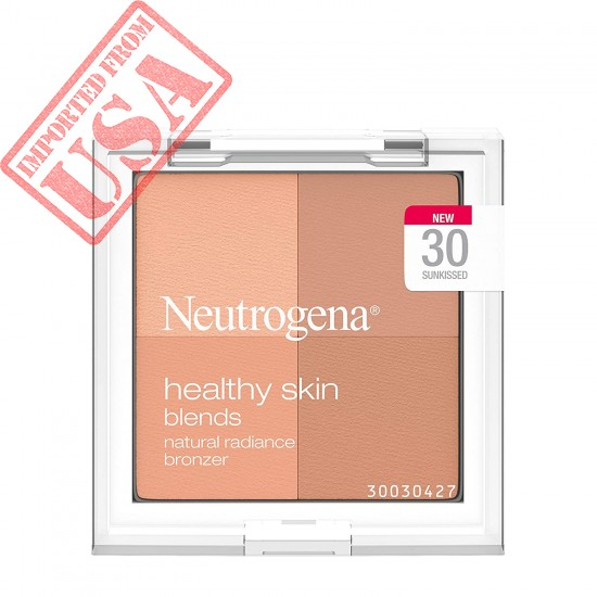 Neutrogena Healthy Skin Blends Powder Blush Makeup Palette, Illuminating Pigmented Blush with Vitamin C & Botanical Conditioners for Blendable, Buildable Application