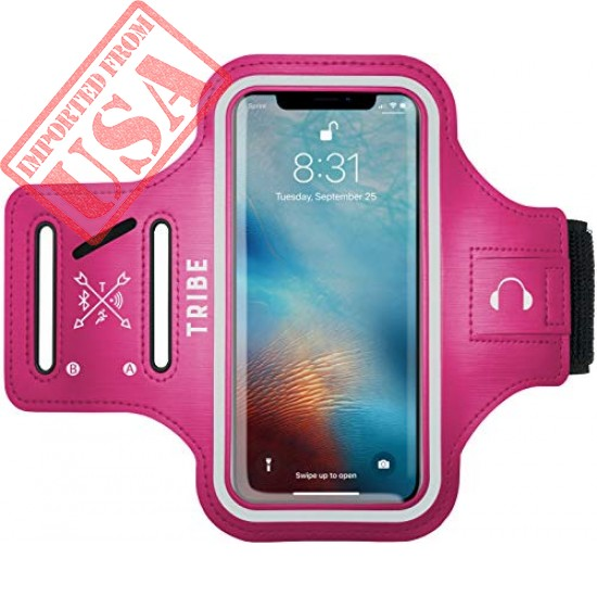 TRIBE Water Resistant Cell Phone Armband Case for iPhone Xs Max, XR, 8 Plus, 7 Plus, 6 Plus, 6S Plus and More Sale in Pakistan