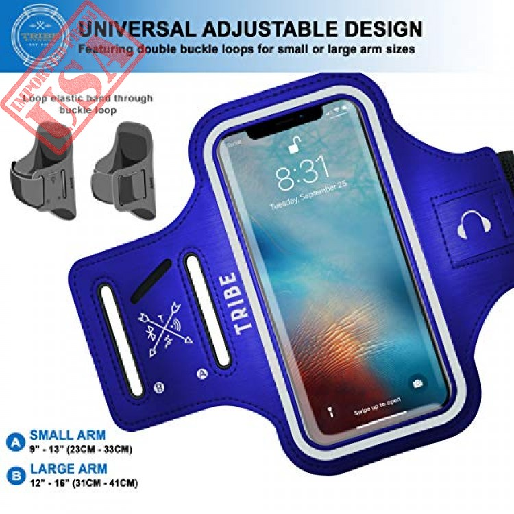 6S Plus Note 4//5//8//9 with Adjustable Elastic Band /& Key Holder S8 Plus XR A8 Plus 8 Plus 7 Plus 6 Plus Samsung Galaxy S9 Plus TRIBE Water Resistant Cell Phone Armband Case for iPhone Xs Max
