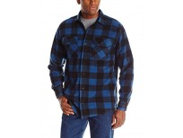 Buy Long Sleeve Plaid Fleece Shirt for Men imported from USA