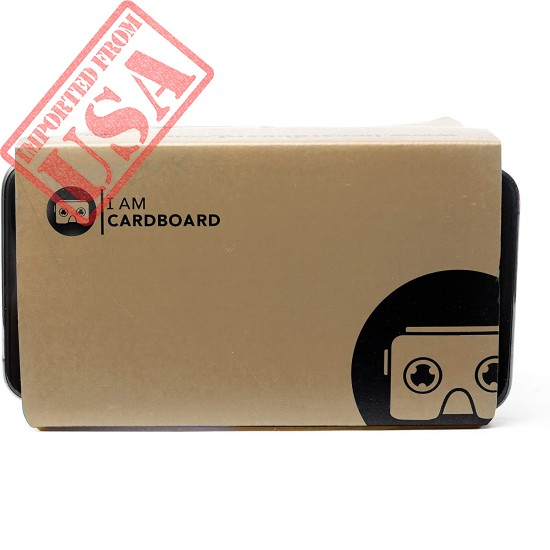 I Am Cardboard VR Box   The Best Google Cardboard Virtual Reality Viewer for iPhone and Android   Google Cardboard v2 Headset Inspired   Small and Unique Travel Gift Under 20 Dollars (Brown)