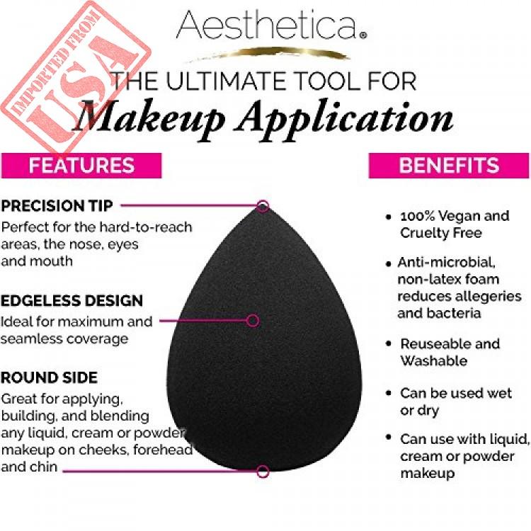 7071818de9c8 Aesthetica Cosmetics Beauty Sponge Blender - Latex Free and Vegan ...