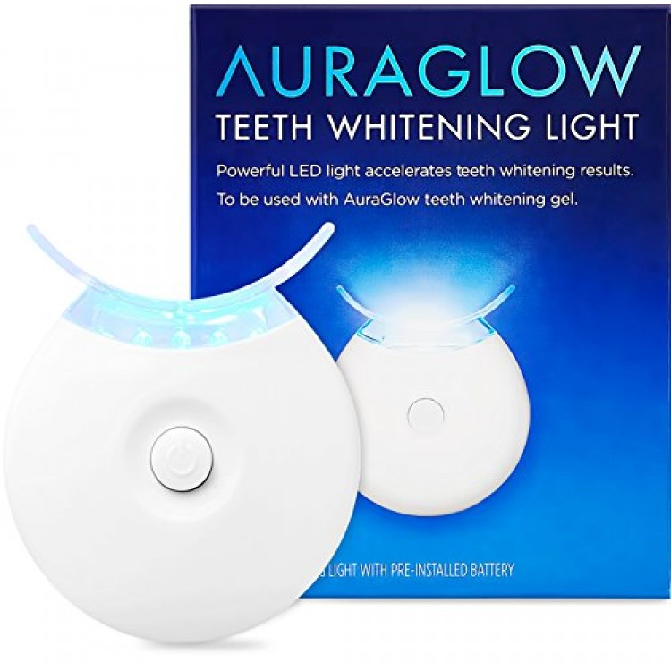 Auraglow Teeth Whitening Accelerator Light 5x More Powerful Blue