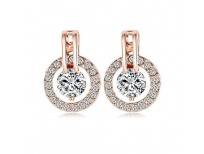 Buy NYKKOLA 18k Rose Gold Plated Circle Halo Stud Earring Online in Pakistan