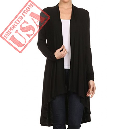 Beautiful Open Front Draped Cardigan for Women imported from USA