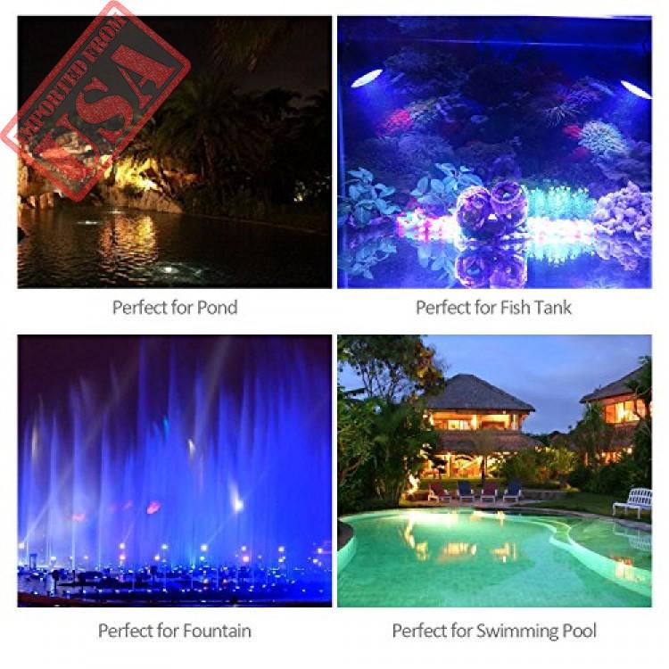 Led Lamps Adjustable Submersible Spotlight Underwater 36led Spot Light Garden Pond Fish Tank Waterproof Aquarium Pool Lamp-color Changing Lights & Lighting