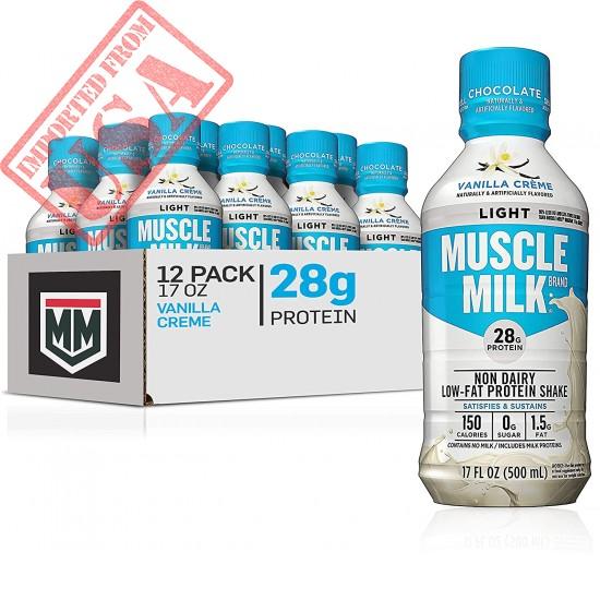Muscle Milk Muscle Milk Light Protein Shake, Vanilla Creme, 28g Protein, 17 FL OZ, 12 Count