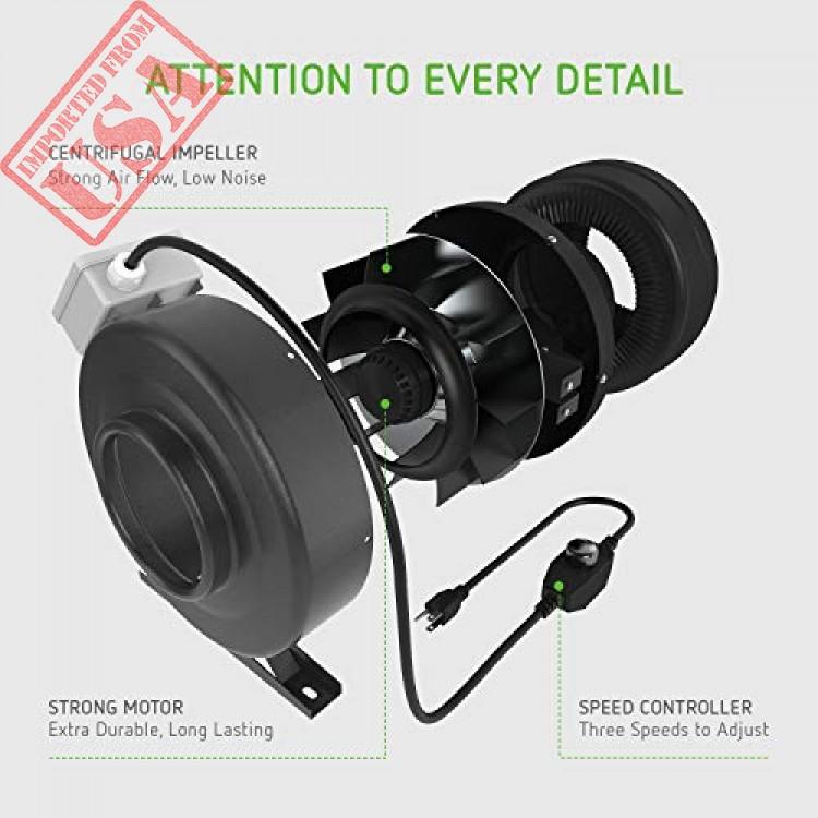 High Quality 6 Inch 440 Cfm Inline Duct Fan By Vivosun