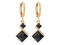 Buy 18K Gold Plated Cubic Zirconia Inlay Charming Hoop Dangle Earrings for Women by YAZILIND Imported from USA