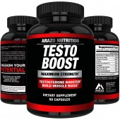 TESTOBOOST Test Booster Supplement - Natural Herbal Pills - Boost Muscle Growth - Arazo Nutrition USA Sale in Pakistan