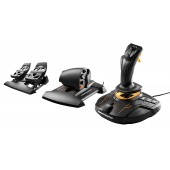 Thrustmaster T16000M FCS Flight Pack - Joystick, Throttle and Rudder Pedals - TARGET Software, PC