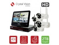 Buy Crystal Vision CVT9604E-3010W All-in-One True HD Wireless Surveillance System NVR,UK imported Sale in Pakistan