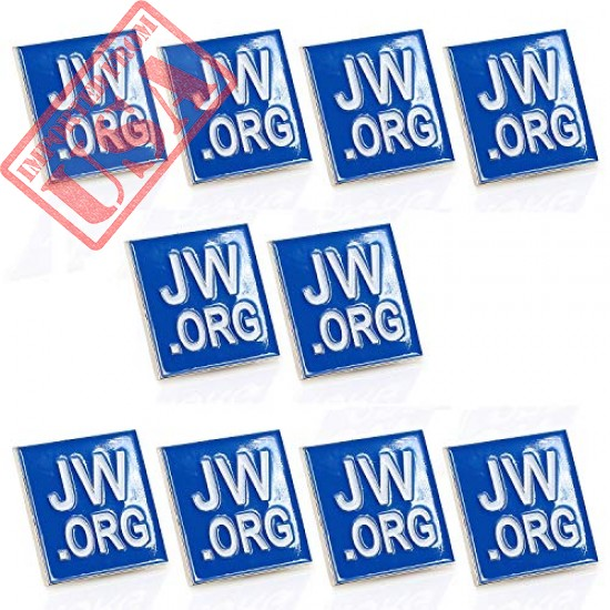 Buy Square Blue Lapel Pin Imported from USA